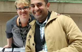Pamela Harris and Sarosh Jamal at the OHEIT conference in 2019.