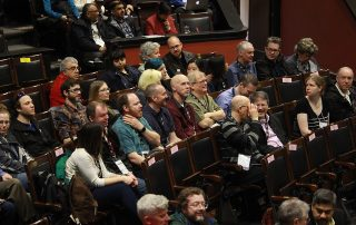 Participants in Convocation Hall at the OHEIT conference in 2019.